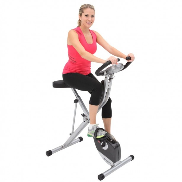 01 Exerpeutic Folding Magnetic Upright Bike