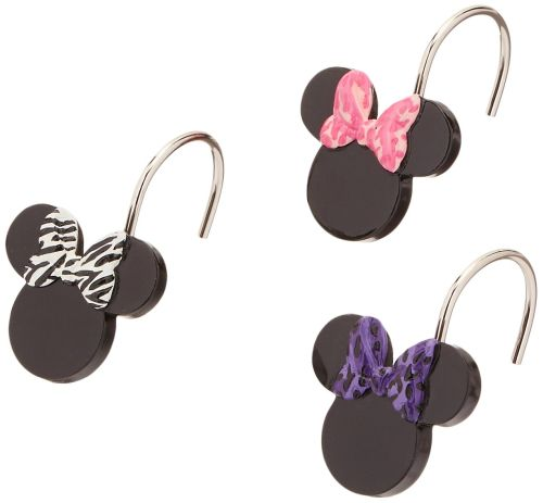 Minnie Mouse Shower Curtain Hooks