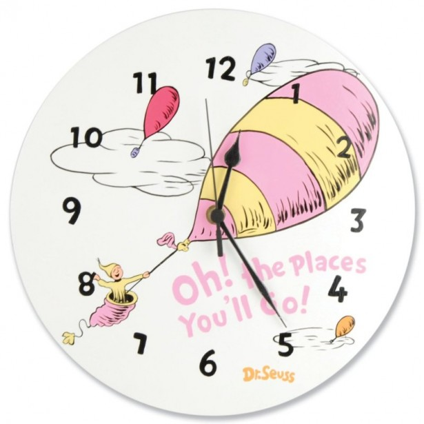 02 dr seuss nursery clock