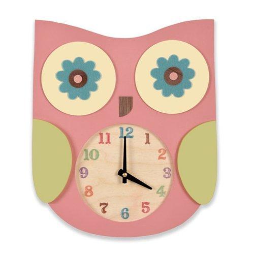 03 owl clock nursery room