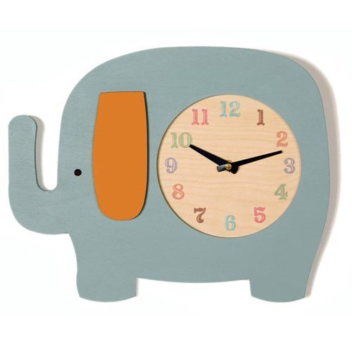04 elephant clock nursery room