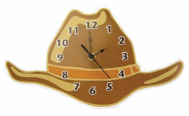 05 cowboy hat nursery room clock