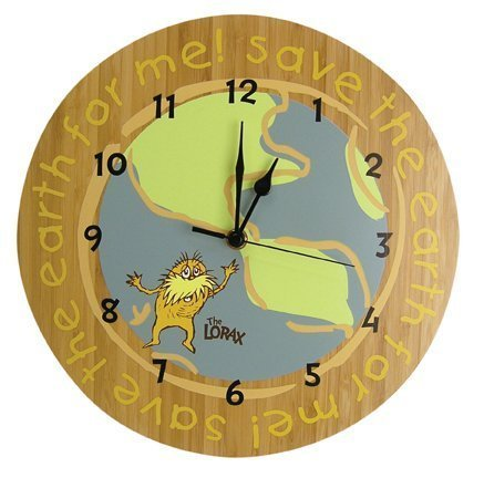 08 dr seuss the lorax wall clock nursery room