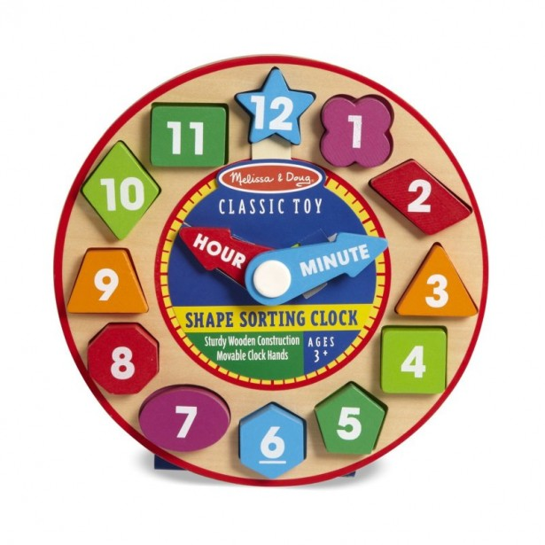 11 shape sorting clock