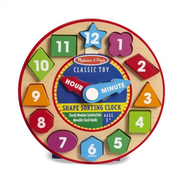 11 shape sorting clock