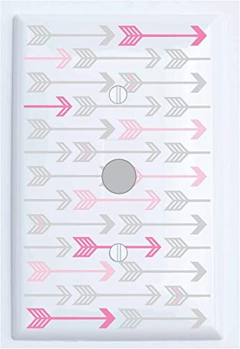 Arrows pattern light switch cover for nursery