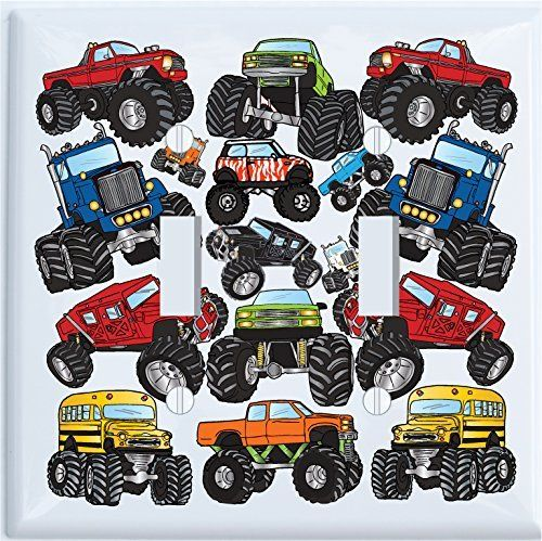 Monster Trucks light switch cover for nursery