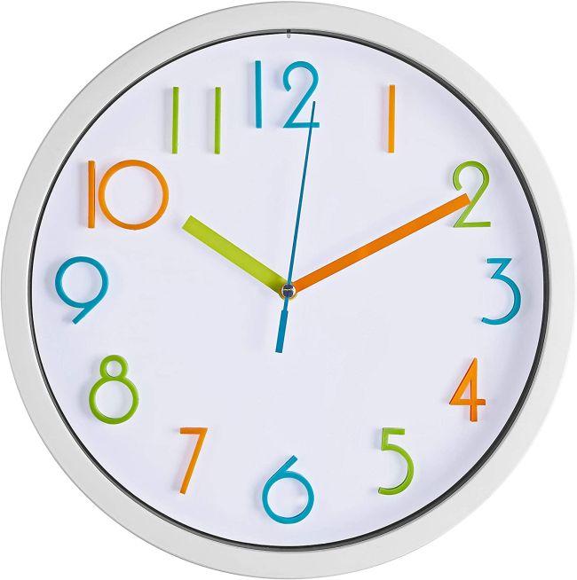 minimialistic wall clock nursery
