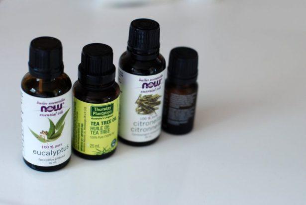Home made bug repellent: essential oils