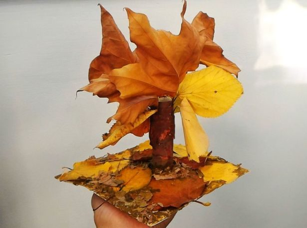 Homemade funny little leaf tree