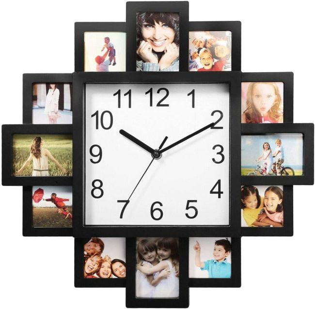 Photo frame nursery clock